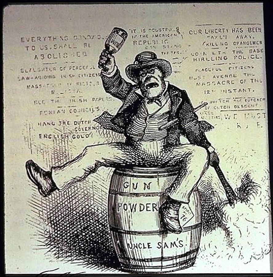 The Usual Irish Way of Doing Things, 1871 anti-Irish political cartoon by Thomas Nast / Wikimedia Commons
