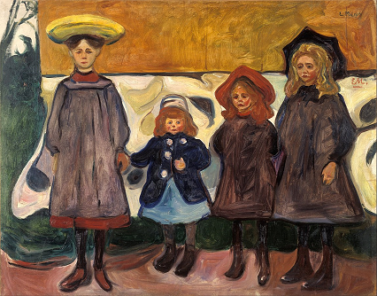 Four girls in Åsgårdstrand