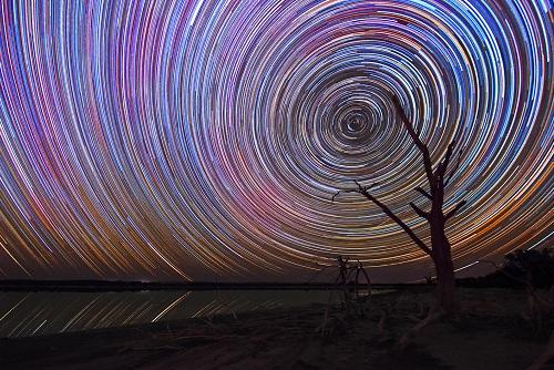 Yenyening Lakes Star Trails in Western Australia