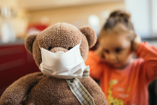 Teddy Bear with a Mask