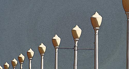 Lamp Standards Along the Boardwalk