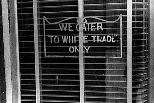 We Cater to White Trade Only