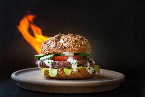 Burger on Fire