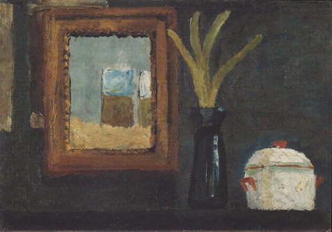 Still Life with Sugar Bowl and Hyacinth in a Glass