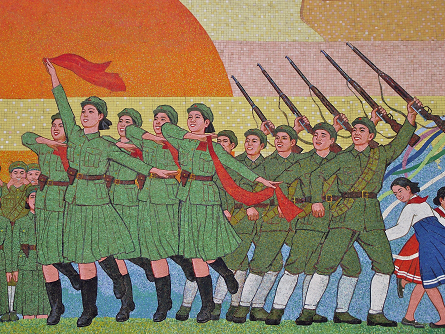 Socialist Realism Mosaic in North Korea