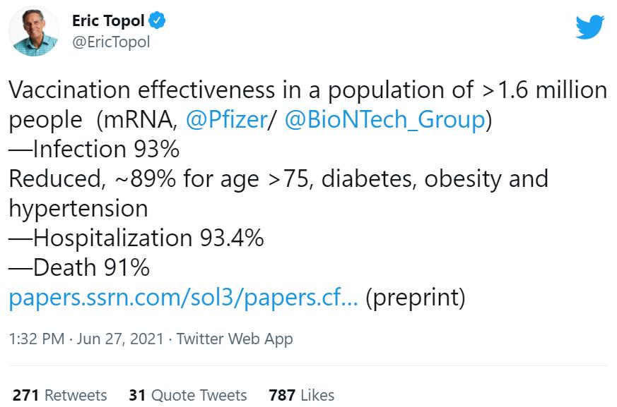 Tweet About Vaccine Study
