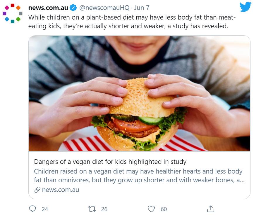 Vegan Study Tweet