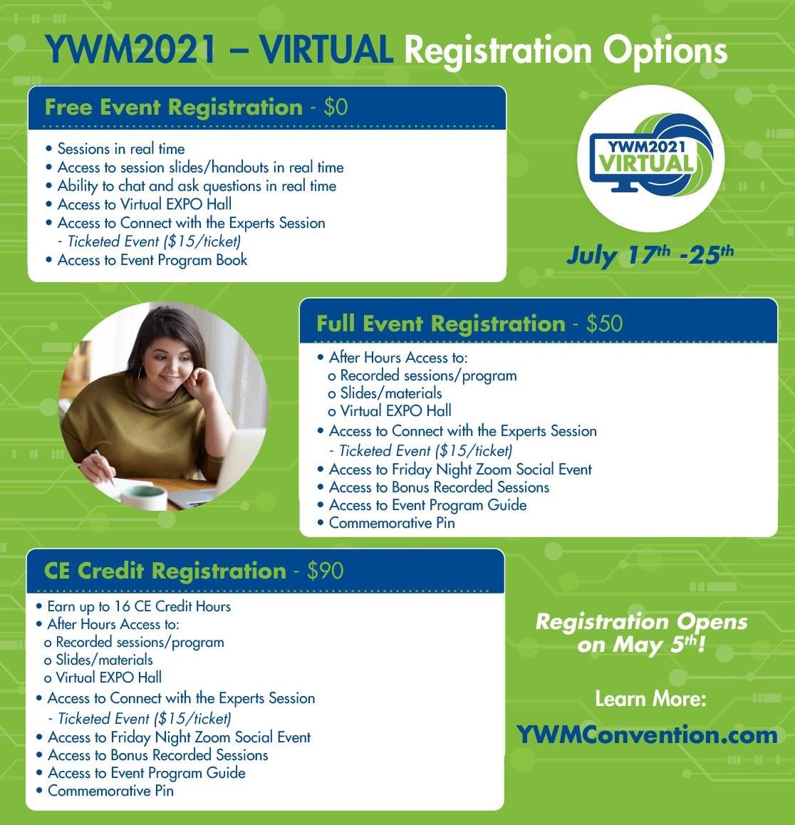 YWM2021 Registration Options
