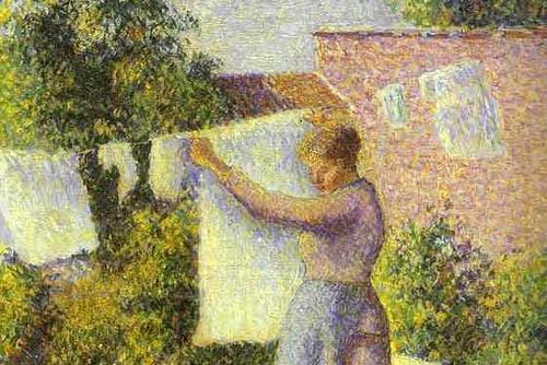 Woman Hanging up the Washing
