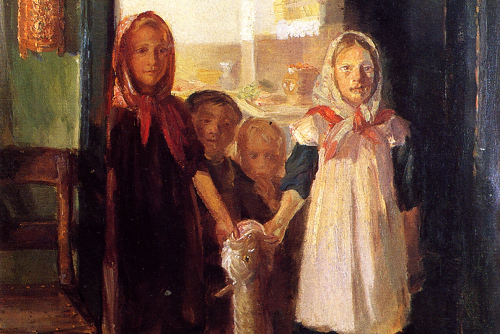 Little Girls with a Cod